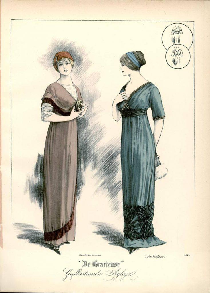 Ilustracja z magazynu De Gracieuse, 1912 r.